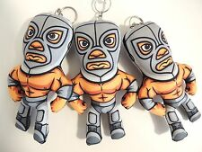 "El Santo Lucha libre hand crafted Wrestler one Plush Keychain 6"" x 3.75"""