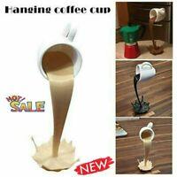 Floating Coffee Cup Art Sculpture | Home Decor | Kitchen Decor  | Mug | Tea New