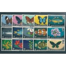 British Solomon Islands 1972 Def Flowers Butterfly Fish 15 V MNH MF10012
