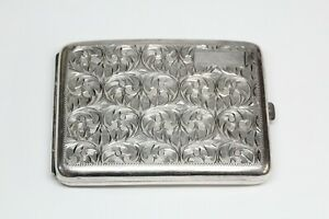 Vintage Sterling Silver Cigarette Case - Very Good Condition - Nicely Engraved