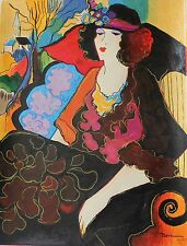 Patricia Govezensky Elizabeth Limited Edition Giclee on canvas by Artist Hand S.