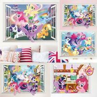 3D My Little Pony Decal WALL STICKER Vinyl Mural Kids Room Home Decor 10 Styles