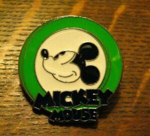 Retro Mickey Mouse 2010 Disney Parks Pin - Green White Black Trading Badge Pin