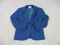 VINTAGE Pendleton Jacket Womens Medium Blue Wool Blazer Coat Casual Ladies *