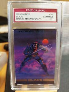BLADE    1993 Marvel Masterpieces Card EMC GRADED 10 VINTAGE SKYBOX