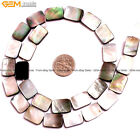 """Natural Flat Rectangle Black Lip Shell Loose Beads For Jewelry Making Strand 15"""""""