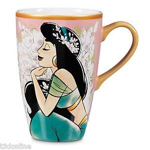Authentic Disney Aladdin Art of Princess Jasmine Ceramic Mug brand new