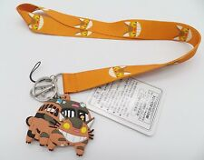 """3"""" Totoro Catbus PVC Bendable Rubber Key Chain Ring with Fabric Lanyard #2"""