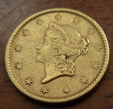 US 1854 Gold $1 Dollar AU Liberty Head Type I
