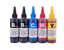 5 Bulk refill ink for Canon inkjet printers 5 x 100ml  bottle High quality