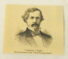 1884 magazine engraving~General Ward~First Commander Of The Ever Victorious Army