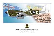WWII WW2 RAAF P-40 Kittyhawk Aviation Art Profile Photo Print - Series I #1 of 3
