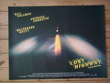 LOST HIGHWAY - DAVID LYNCH - MINT condition - Original UK Quad D/S Cinema Poster