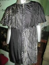 Frock by Tracy Reese Black and Ivory with Geometric Design Short  Dress SZ M