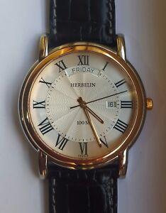 "HERBELIN ""TRADITIONAL"" DAY-DATE TWO TONE MEN'S QUARTZ WATCH Ref.18643/TR01"