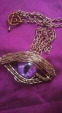 Hippy Boho Steam Punk Dragon Eye FILO Intreccio Ciondolo Bronzo Rame 13f1