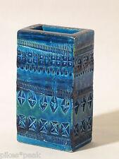 Bitossi Ceramiche Keramik Vase Italien Aldo Londi RIMINI BLUE ca. 15 cm