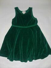 Gymboree Vintage 1998 Holiday Garland Green Velour Twirl Dress Girls Sz 6 7 XXL