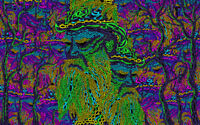 Trippy Psychedelic Backdrop Tapestry Blacklight Art Fluorescent UV Decorations