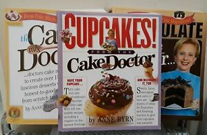 Lot of 3 Cake Mix Doctor Anne Byrn Cookbooks CupCakes, Cake Doctor, Chocolate