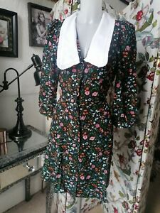 Nobody's Child Floral Dress Button Through Size 8/10 Bnwt Ditsy