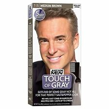 2 Pack - JUST FOR MEN Touch of Gray Hair Treatment T-35 Medium Brown, 1 Each