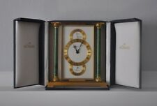 Vintage Jaeger LeCoultre Barometer Thermometer Clock w/ Display Case
