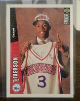 1996-1997 UD COLLECTORS CHOICE ALLEN IVERSON Rookie Card RC #301 (76ERS) HOF
