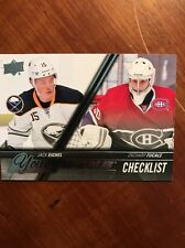 2015-16 UD Hockey Series 2 Young Guns Check List Eichel/Fucale #500
