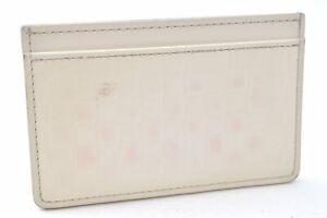 Louis Vuitton Damier Facette Porte Carts Simple Card Case White M63163 LV A8926