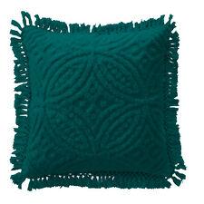 Bianca Savannah Soft Cotton Chenille Cushion Teal