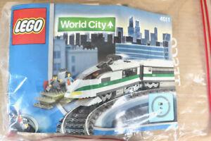 LEGO 4511 WORLD CITY HIGH SPEED RAILROAD TRAIN SET LOCOMOTIVE & COACH ONLY