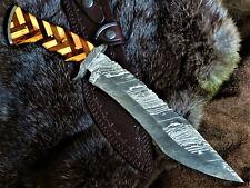 Jagdmesser-Bowiemesser-Kukri-Tanto-Damastmesser-Messerkunst-Groß - 38cm- (T90)