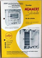 Werbeprospekt MEMMERT Schränke 1957