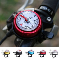 Bike Bicycle Invisible Bell Aluminum Loud Sound Compass Handlebar Safety HornkOD