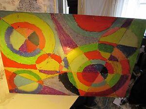 ICanvas 40 X 26 Color Explosion by Robert Delaumay Canvas Art Print