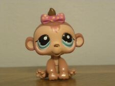 Littlest Pet Shop LPS #1422 Monkey with pink polka dot bow
