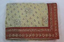 Bollywood Silk Georgette Printed Designer Beige Saree Indian Sari Party Dress