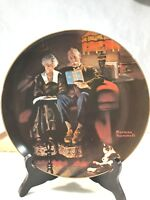 "Vintage 1984 Norman Rockwell's ""Evening's Ease"" Plate,Bradford Exchange"