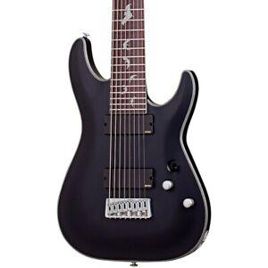 Schecter Guitar Research Damien Platinum 8-String Electric Guitar Satin Black