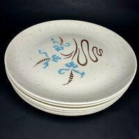 6 Vintage Santa Anita Ware Fantasy Dinner Plates Rena Ware California 1950s
