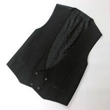 Louis Vuitton Men Black DAMIER Suit Silk Wool Vest Waistcoat Gilet Size IT 54 XL
