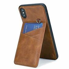 WaterFox iPhone Xs Max Wallet Case for Men, 5 Credit Card Slots PU Leather Cover