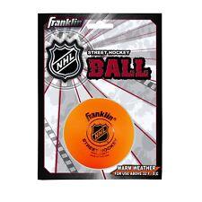 Franklin Sports Street Roller Hockey Ball Puck Orange High Density Molded PVC