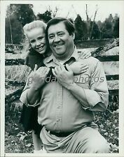 1983 Actor Barry Corbin with Amanda Peterson Original News Service Photo