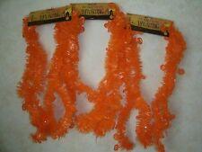 "27 ft Halloween Tinsel Garland - Orange Pumpkins - (3) 9 ft sections x 2"" wide"
