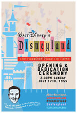 Disneyland 1955 Grand Opening Ceremony – Vintage Poster