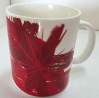 Starbucks Christmas Holiday Poinsettia Red/Gold Coffee Mug 2014 12 Fl Oz