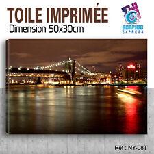 50x30cm - TOILE IMPRIMÉE - TABLEAU MODERNE DECORATION MURALE - NEW YORK - NY-08T
