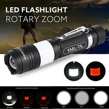 10000 Lumens CREE XM-L T6 LED USB Rechargeable Flashlight Torch Zoom Lamp Light